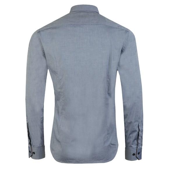 BOSS Mens Grey Athleisure Biado Regular Stretch Shirt main image