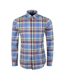 Polo Ralph Lauren Mens Blue Slim Fit Multi Check Shirt