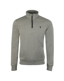 Polo Ralph Lauren Mens Grey Tech Half Zip Sweatshirt