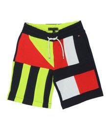 Tommy Hilfiger Kids Boys Blue Sailing Colour Block Sweat Short