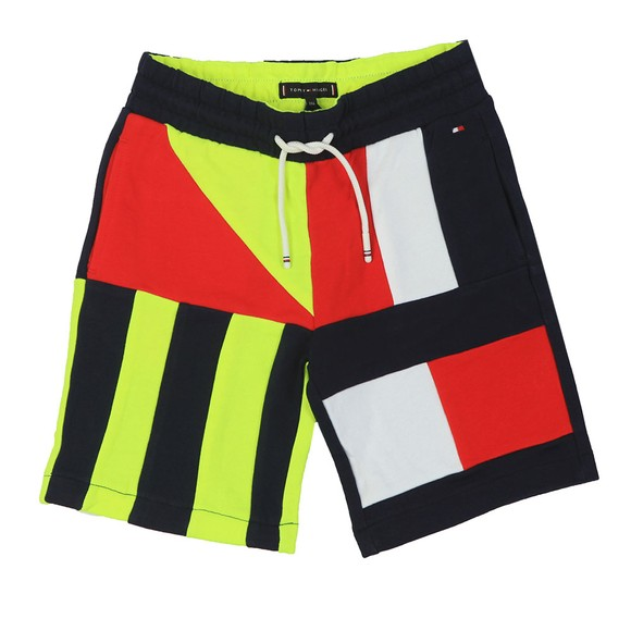 Tommy Hilfiger Kids Boys Blue Sailing Colour Block Sweat Short main image
