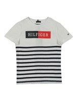 Mixed Artwork Stripe T-Shirt