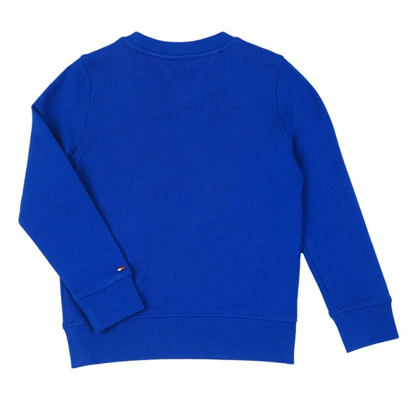 Tommy Hilfiger Kids Boys Blue Essential Crew Neck Sweatshirt