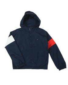 Tommy Hilfiger Kids Boys Blue Essential Hooded Jacket