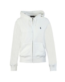 Polo Ralph Lauren Womens White Full Zip Hooded Sweat