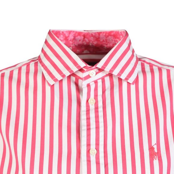 Polo Ralph Lauren Womens Pink Georgia Striped Long Sleeve Shirt