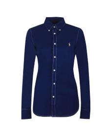 Polo Ralph Lauren Womens Blue Heidi Long Sleeve Shirt