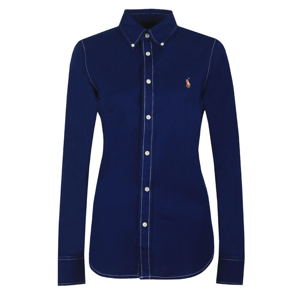 Polo Ralph Lauren Womens Blue Heidi Long Sleeve Shirt