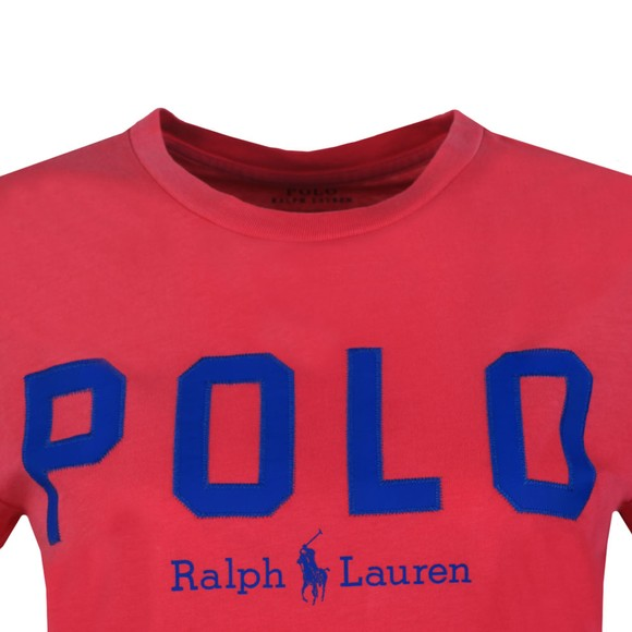 Polo Ralph Lauren Womens Pink Large Polo  Short Sleeve T-Shirt