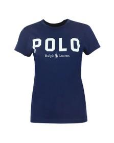 Polo Ralph Lauren Womens Blue Large Polo  Short Sleeve T-Shirt