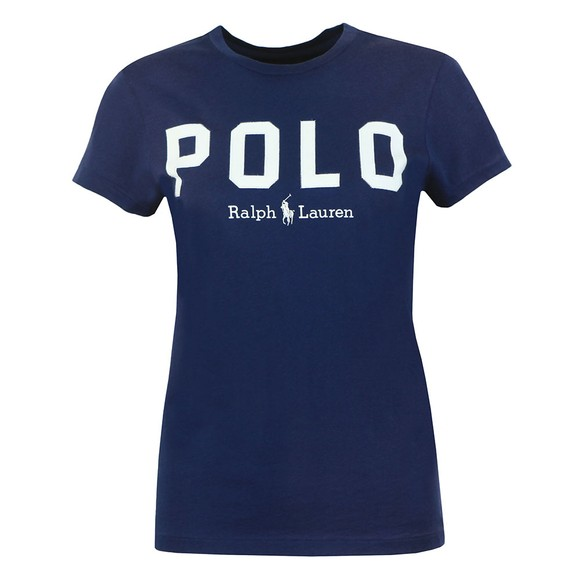 Polo Ralph Lauren Womens Blue Large Polo  Short Sleeve T-Shirt