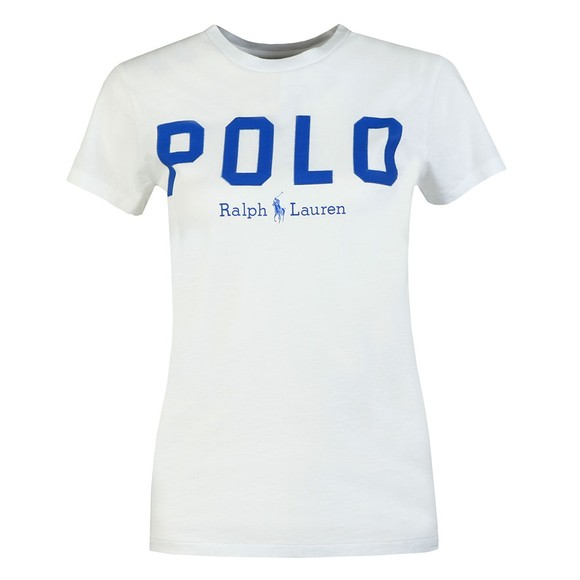 Polo Ralph Lauren Womens White Large Polo  Short Sleeve T-Shirt