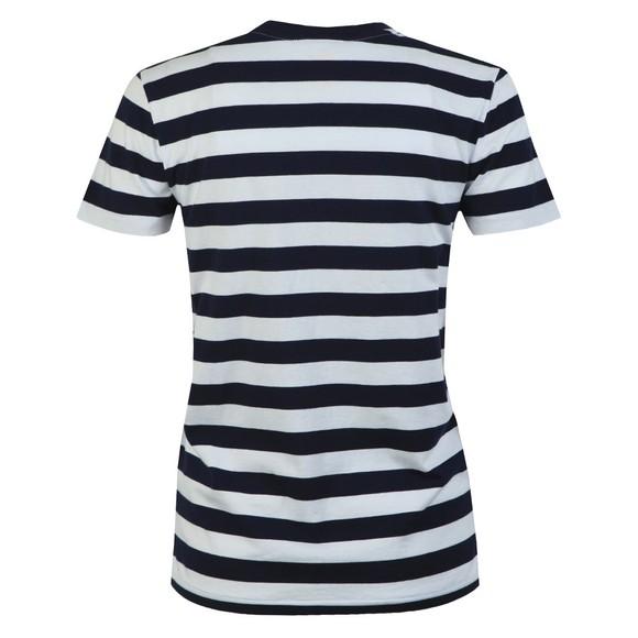 Polo Ralph Lauren Womens Blue Thick Striped Short Sleeve T-Shirt main image