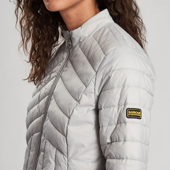 Barbour International Womens Grey Keeper Quilt main image