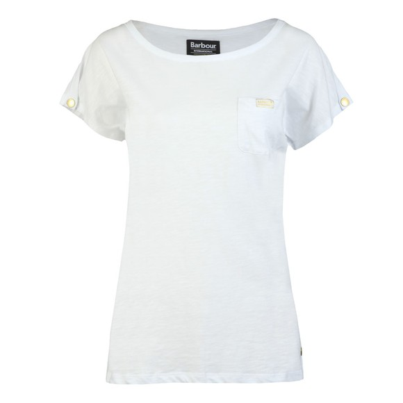 Barbour International Womens White Apex Top