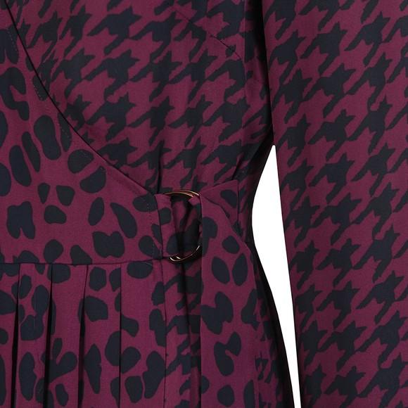 Ted Baker Womens Pink Folita Wilderness Long Sleeve Wrap Dress