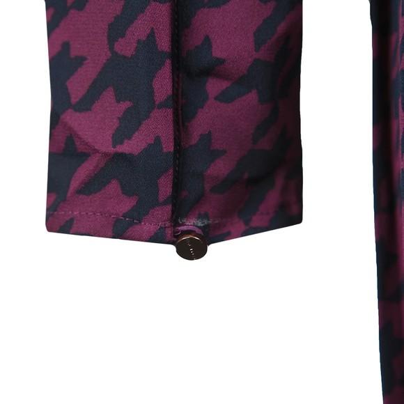 Ted Baker Womens Pink Folita Wilderness Long Sleeve Wrap Dress main image