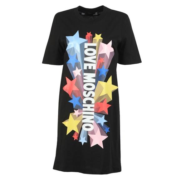 Love Moschino Womens Black Abito Stelle T-Shirt Dress main image