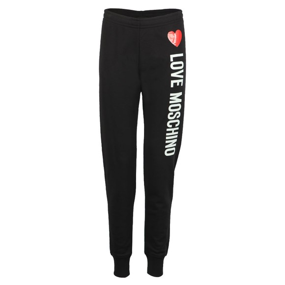Love Moschino Womens Black Pantalone Heart Logo Jogger main image