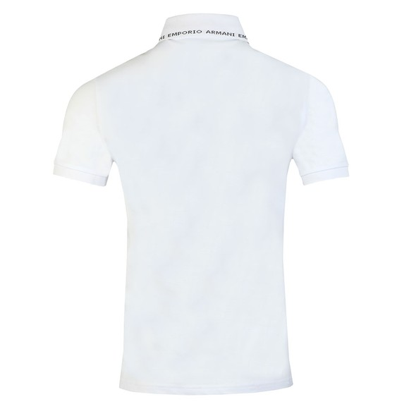 Emporio Armani Mens White Branded Collar Polo Shirt main image