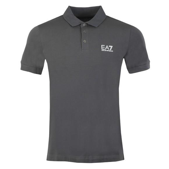 EA7 Emporio Armani Mens Grey Small Logo Polo Shirt main image