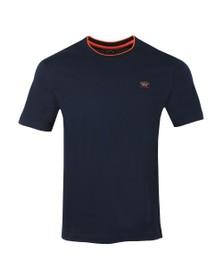 Paul & Shark Mens Blue Tipped Neck T-Shirt