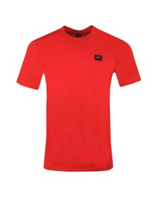 Paul & Shark Mens Red Chest Badge Plain T Shirt