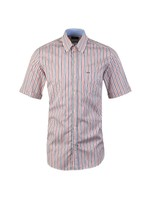 Stripe Button Down Short Sleeve Shirt