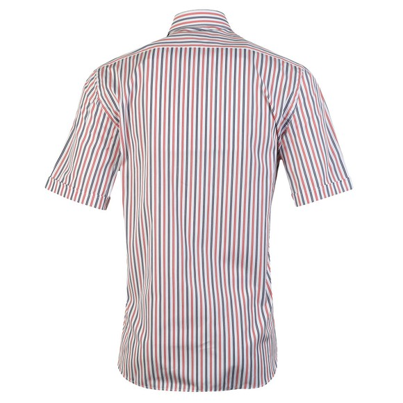 Paul & Shark Mens Red Stripe Button Down Short Sleeve Shirt main image