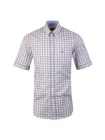 Check Button Down Short Sleeve Shirt