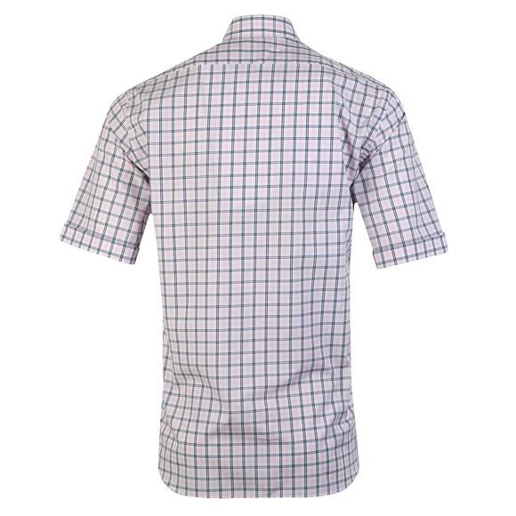 Paul & Shark Mens Pink Check Button Down Short Sleeve Shirt main image