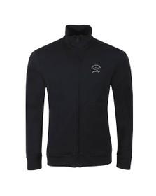 Paul & Shark Mens Blue Reflective Logo Full Zip Sweatshirt