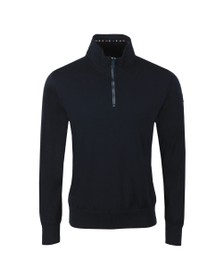 Paul & Shark Mens Blue Half Zip Cotton Jumper