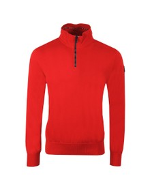 Paul & Shark Mens Red Half Zip Cotton Jumper