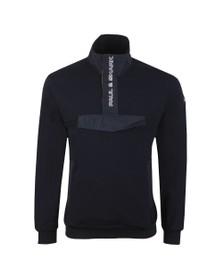 Paul & Shark Mens Blue Front Pocket Half Zip Sweatshirt