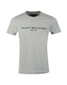 Tommy Hilfiger Mens Grey Core Tommy Logo T-Shirt