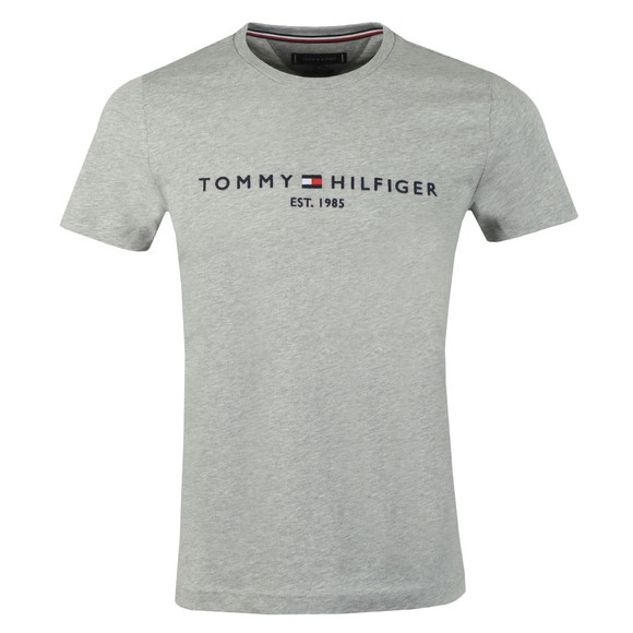Tommy Hilfiger Mens Grey Core Tommy Logo T-Shirt main image