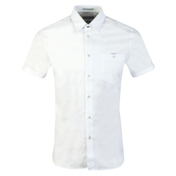 Ted Baker Mens White S/S Oxford Shirt
