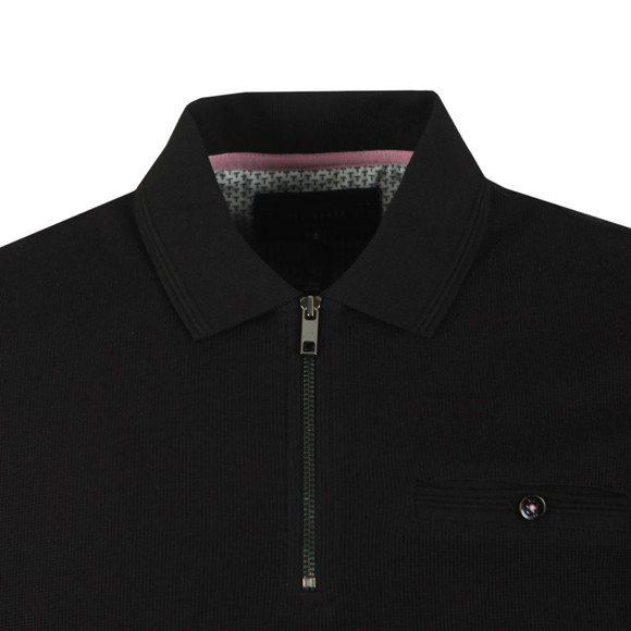 Ted Baker Mens Black Textured Polo main image