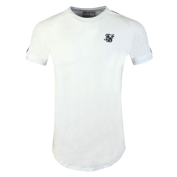 Sik Silk Mens White Cuff Fade Panel T-Shirt main image