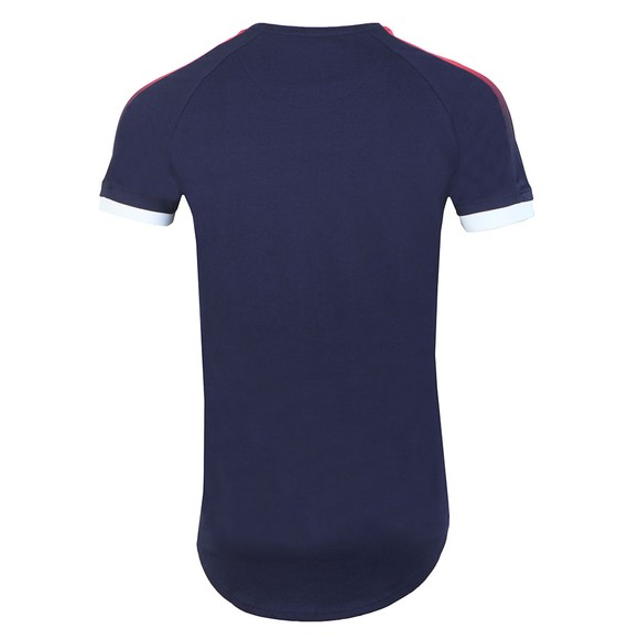 Sik Silk Mens Blue Cuff Fade Panel T-Shirt main image