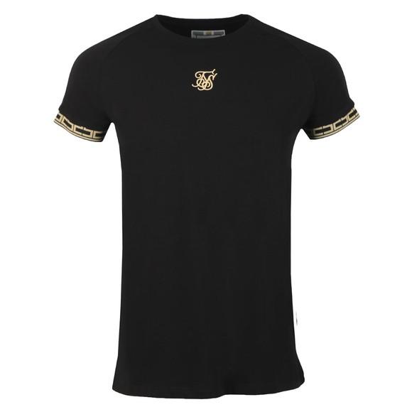 Sik Silk Mens Black Straight Hem Tape T-Shirt main image