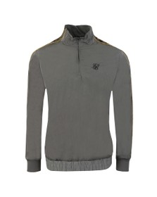 Sik Silk Mens Grey 1/4 Zip Track Top