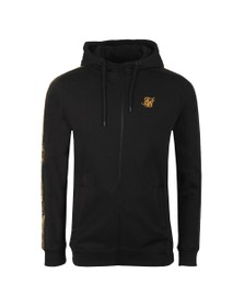 Sik Silk Mens Black Nylon Panel Zip Through Hoodie