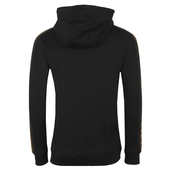 Sik Silk Mens Black Nylon Panel Zip Through Hoodie main image