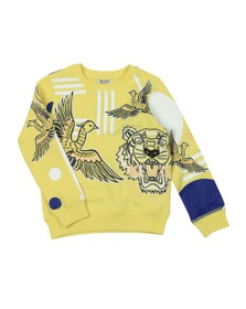 Kenzo Kids Girls Yellow Julia Phoenix Celebration Sweatshirt