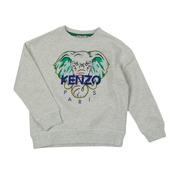 Kenzo Kids Boys Grey Jose Elephant Logo Sweatshirt