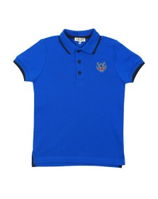 Kenzo Kids Boys Blue Tipped Tiger Logo Polo Shirt