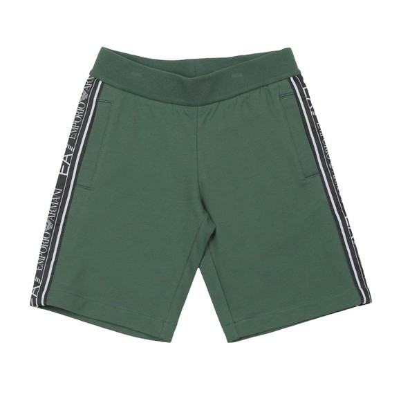 EA7 Emporio Armani Boys Green Tape Side Jersey Short