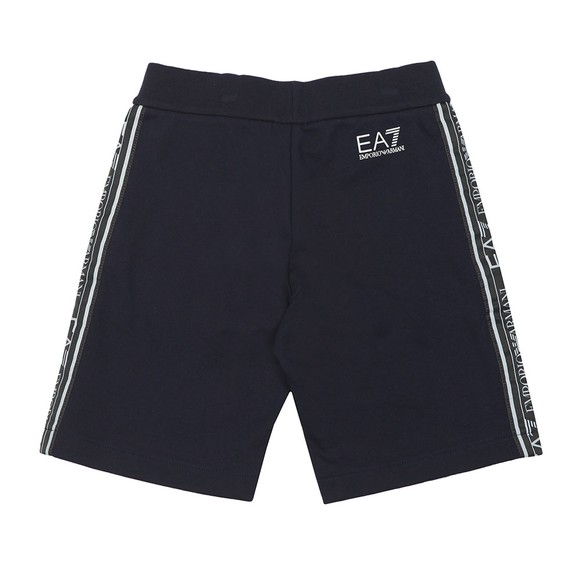 EA7 Emporio Armani Boys Blue Tape Side Jersey Short main image